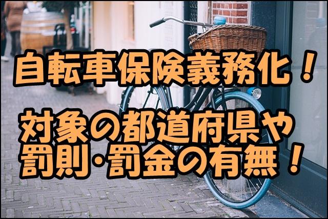 自転車保険義務化の都道府県別の現状は?罰則の有無や取り締まりは?